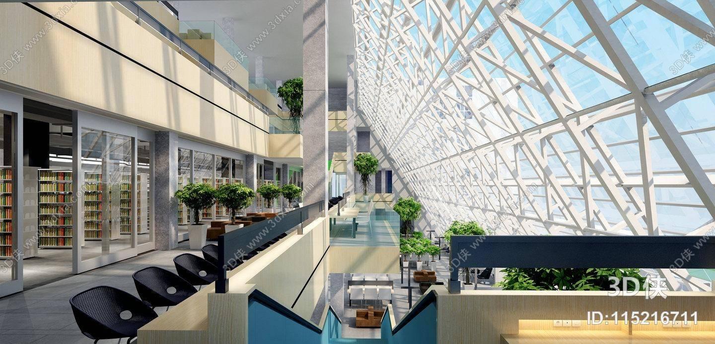 商场大厅效果图素材免费下载,本作品主题是现代商场过道 现代编织休闲