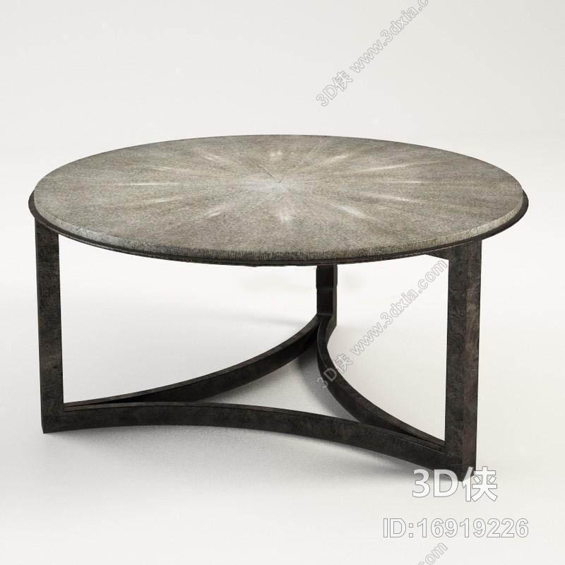 休闲桌椅 效果图素材免费下载,本作品主题是经典三角形底圆桌工艺黑色