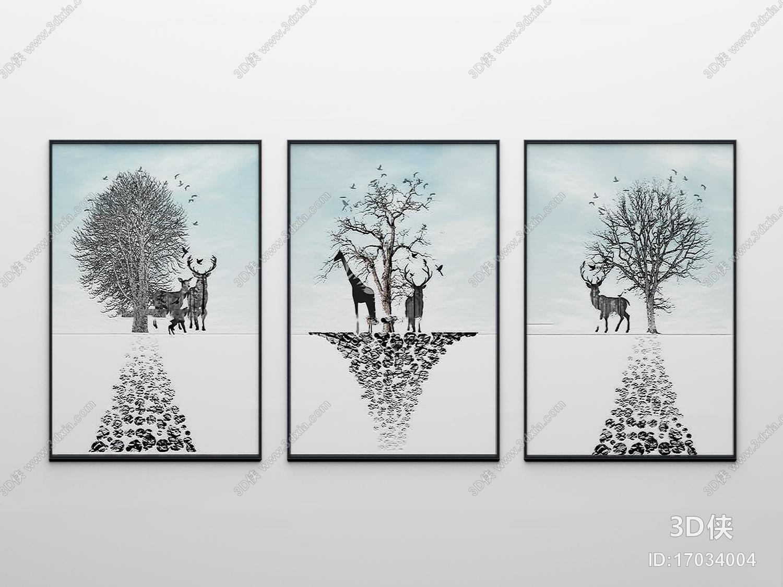 2012版本,建议使用3dmax 2012 软件打开,该北欧风格挂画图片素材大小