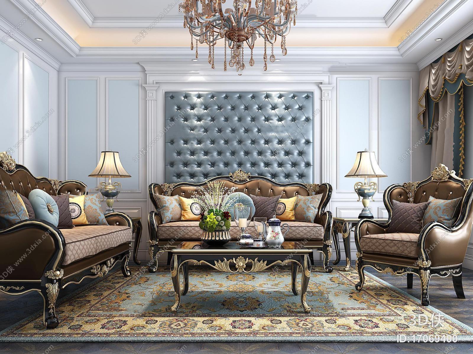 2012版本,建议使用3dmax 2012 软件打开,该欧式风格组合沙发图片素材