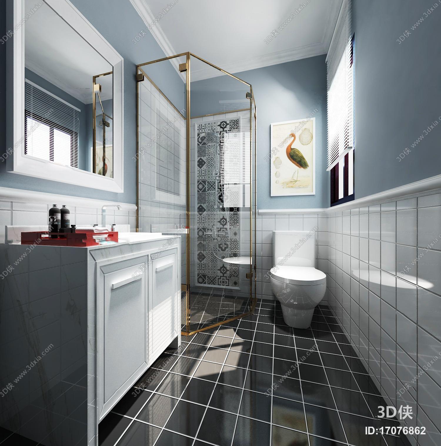 北欧卫浴空间3D模型