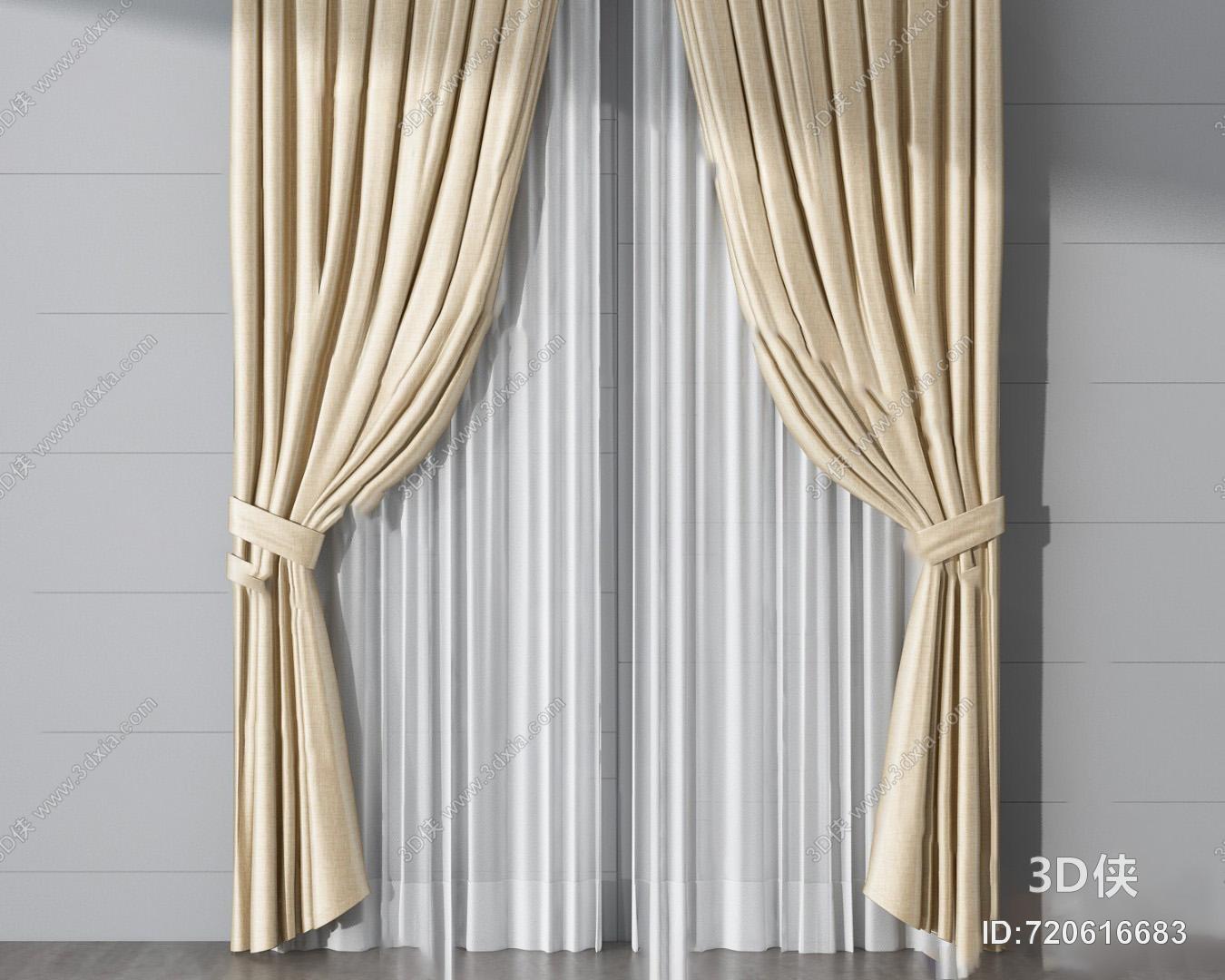 2010,建议使用3dmax 2012 软件打开,该现代窗帘家纺图片素材大小是3.