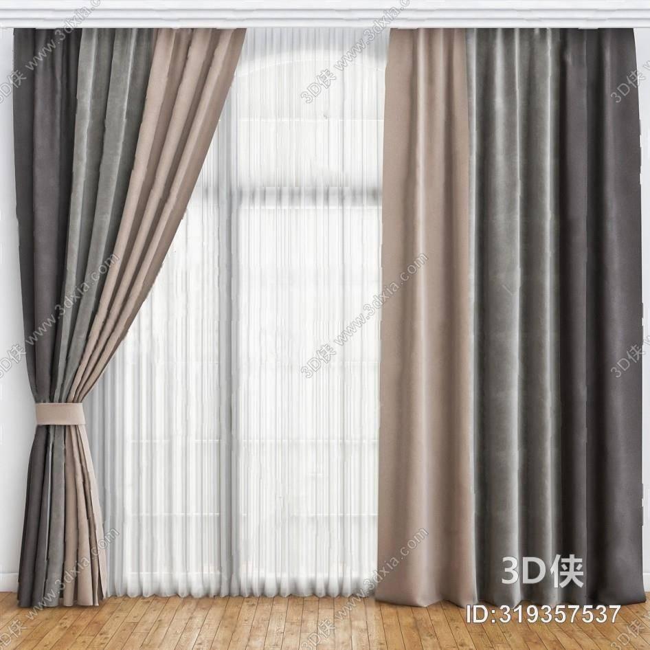 格式是max2010,建议使用3dmax 2012 软件打开,该现代窗帘家纺图片素材