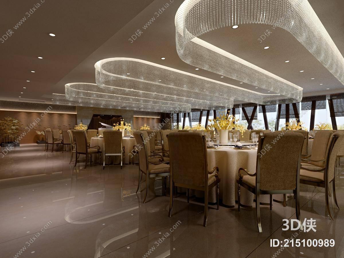 欧式简约西餐厅 欧式简约水晶吊灯