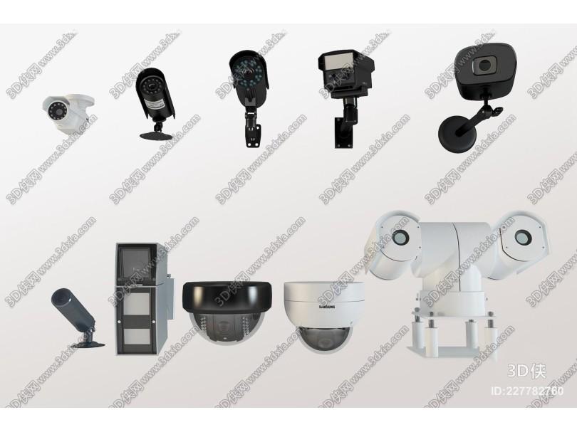 现代摄像头监控器组合3D模型