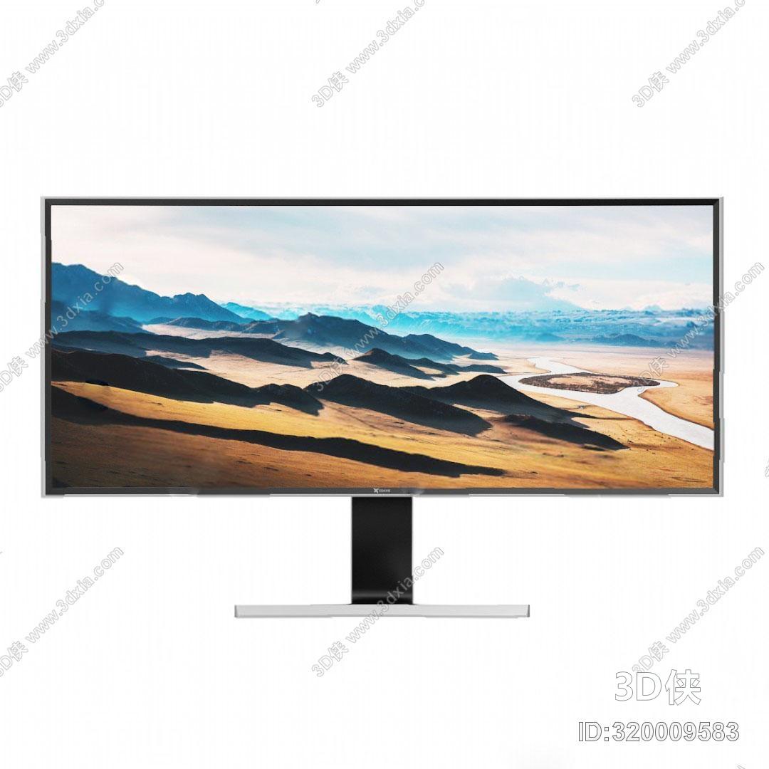 电视柜效果图素材免费下载,本作品主题是电视机3d模型,编号是