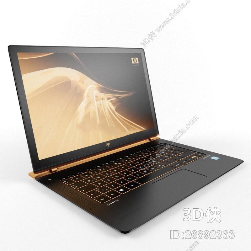 数码产品 效果图素材免费下载,本作品主题是笔记本电脑国外模型