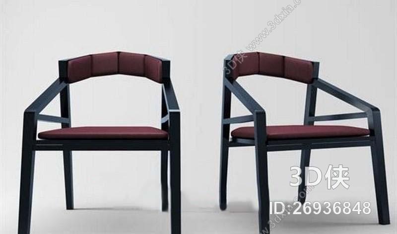 素材免费下载,本作品主题是第二季模型套装(国外单体)新中式椅子16