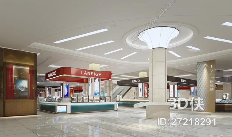 现代商场卖场3d模型