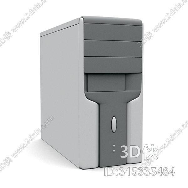 电脑效果图素材免费下载,本作品主题是灰色电脑主机,编号是315335484