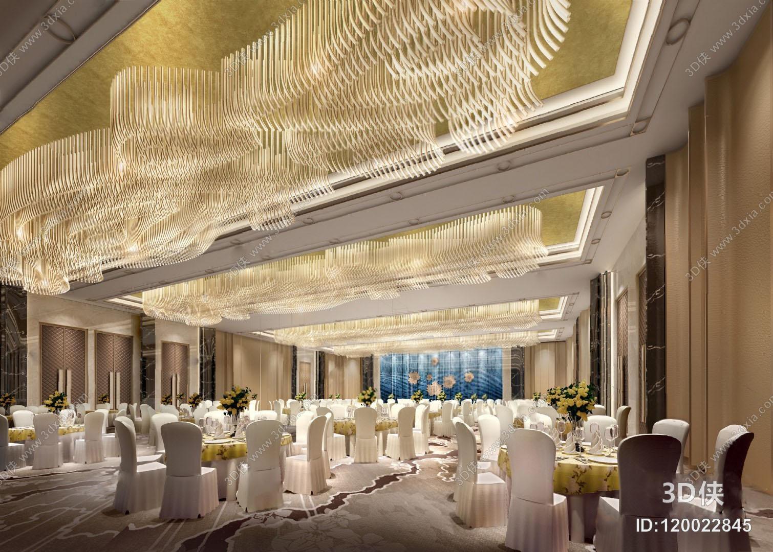 2010,建议使用3dmax 2012 软件打开,该经典欧式酒店宴会厅图片素材