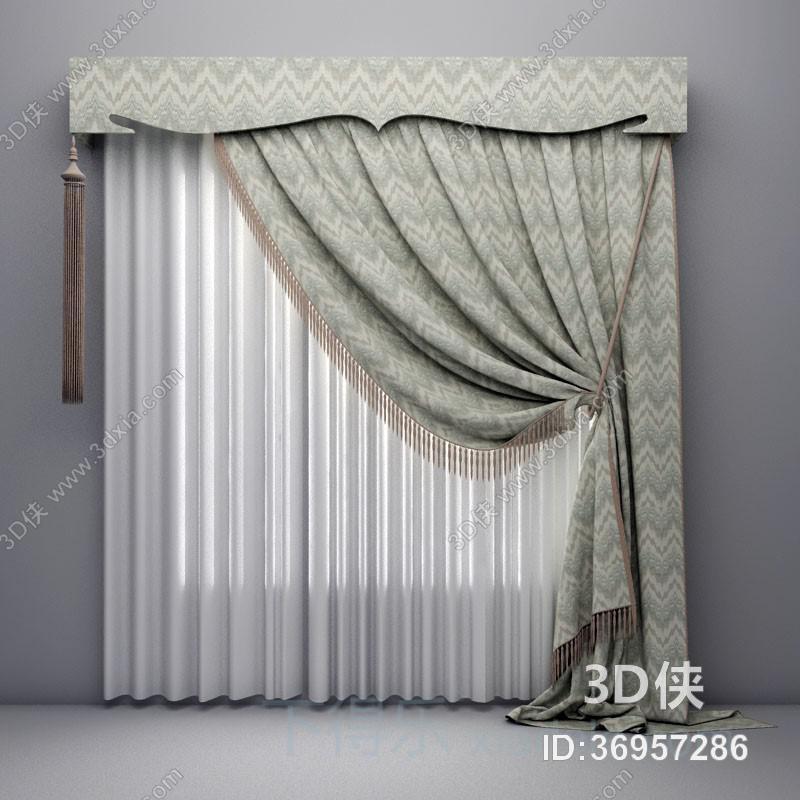 格式是max 2010,建议使用3dmax 2012 软件打开,该窗帘家纺图片素材