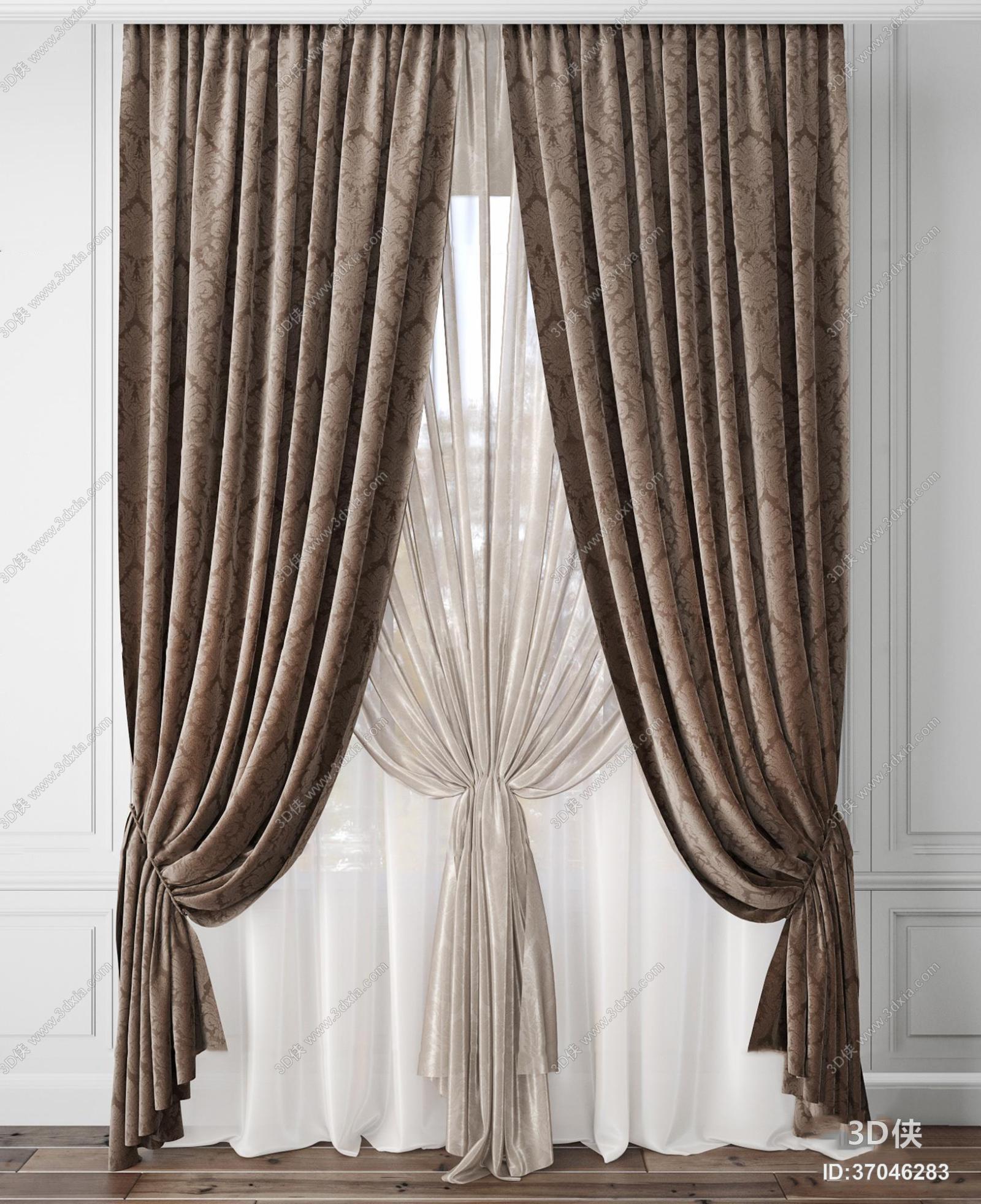 2012版本,建议使用3dmax 2012 软件打开,该现代风格窗帘家纺图片素材