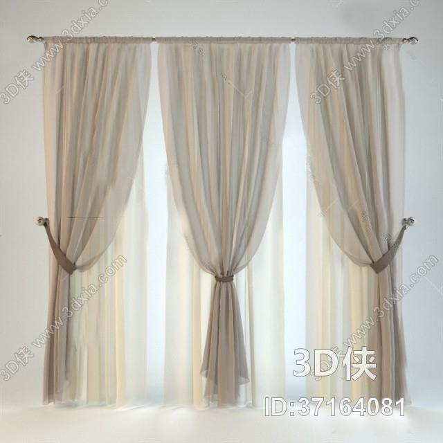 窗帘 3D模型