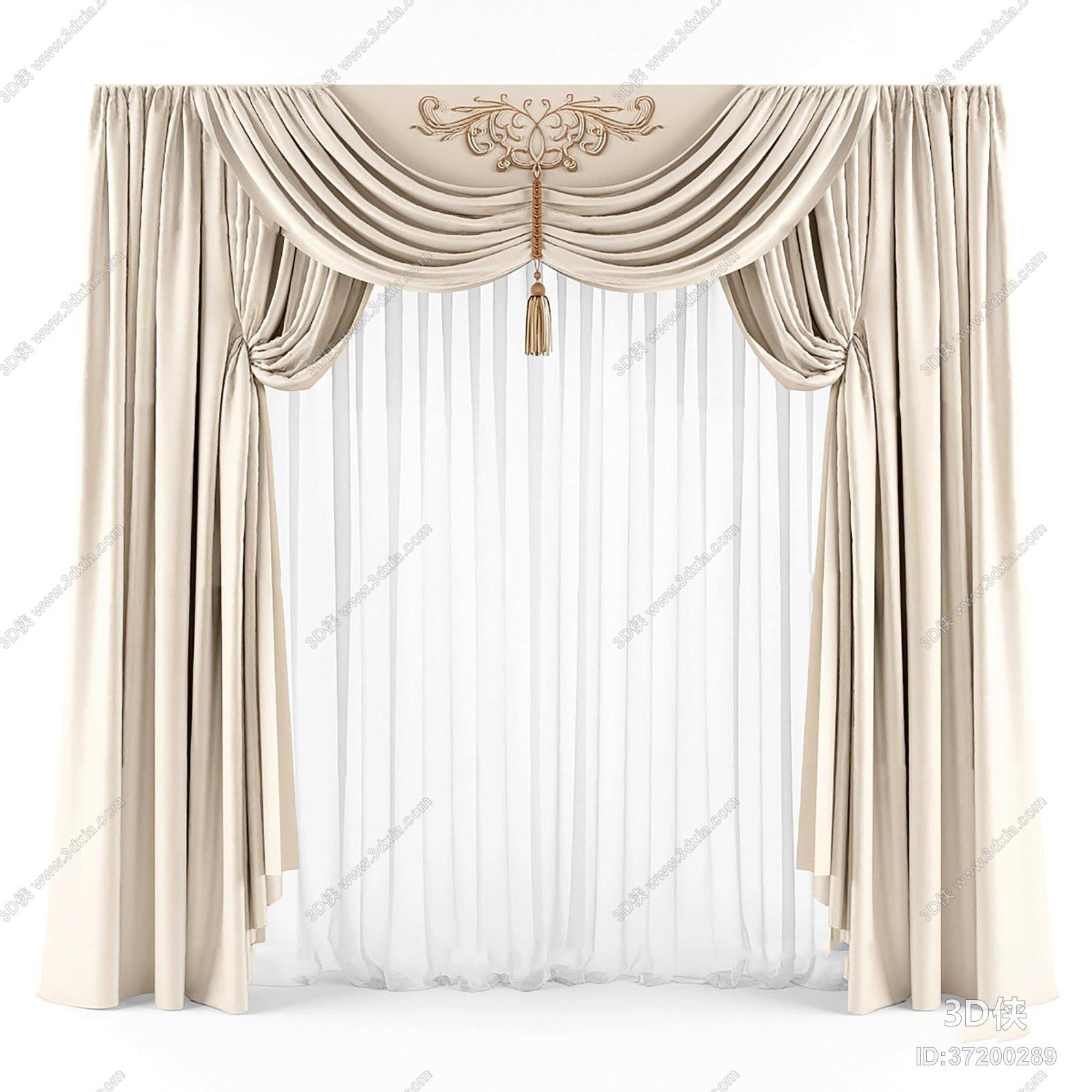 2012版本,建议使用3dmax 2012 软件打开,该欧式风格窗帘家纺图片素材