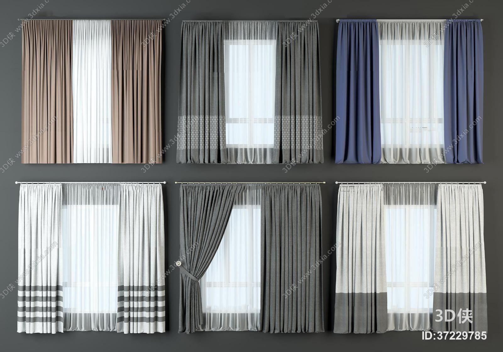 2012,建议使用3dmax 2012 软件打开,该现代风格窗帘家纺图片素材大小