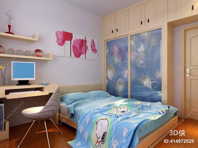 现代家居卧室 现代长方形玻璃衣柜图片
