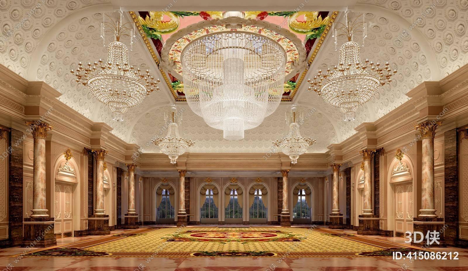 2010,建议使用3dmax 2012 软件打开,该欧式古典酒店大堂图片素材大小