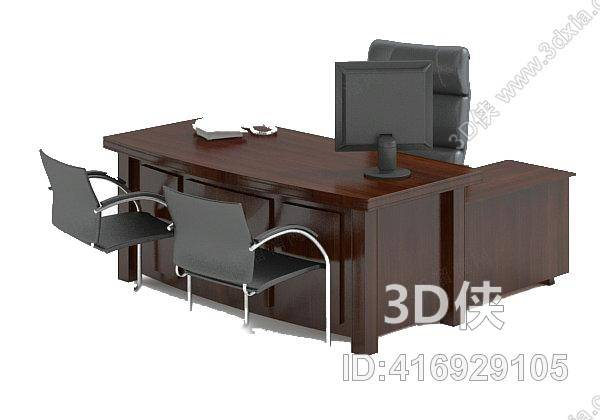 办公桌效果图素材免费下载,本作品主题是办公桌椅组合1,编号是