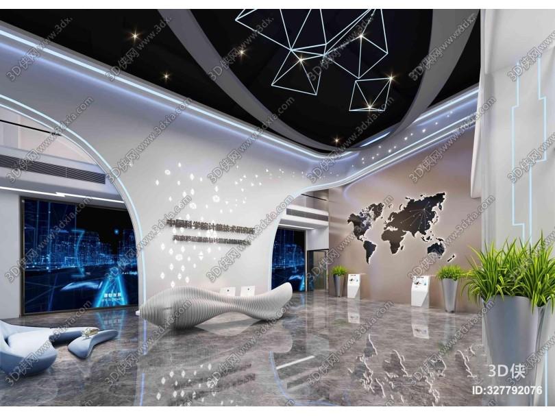 现代科技展厅3D模型