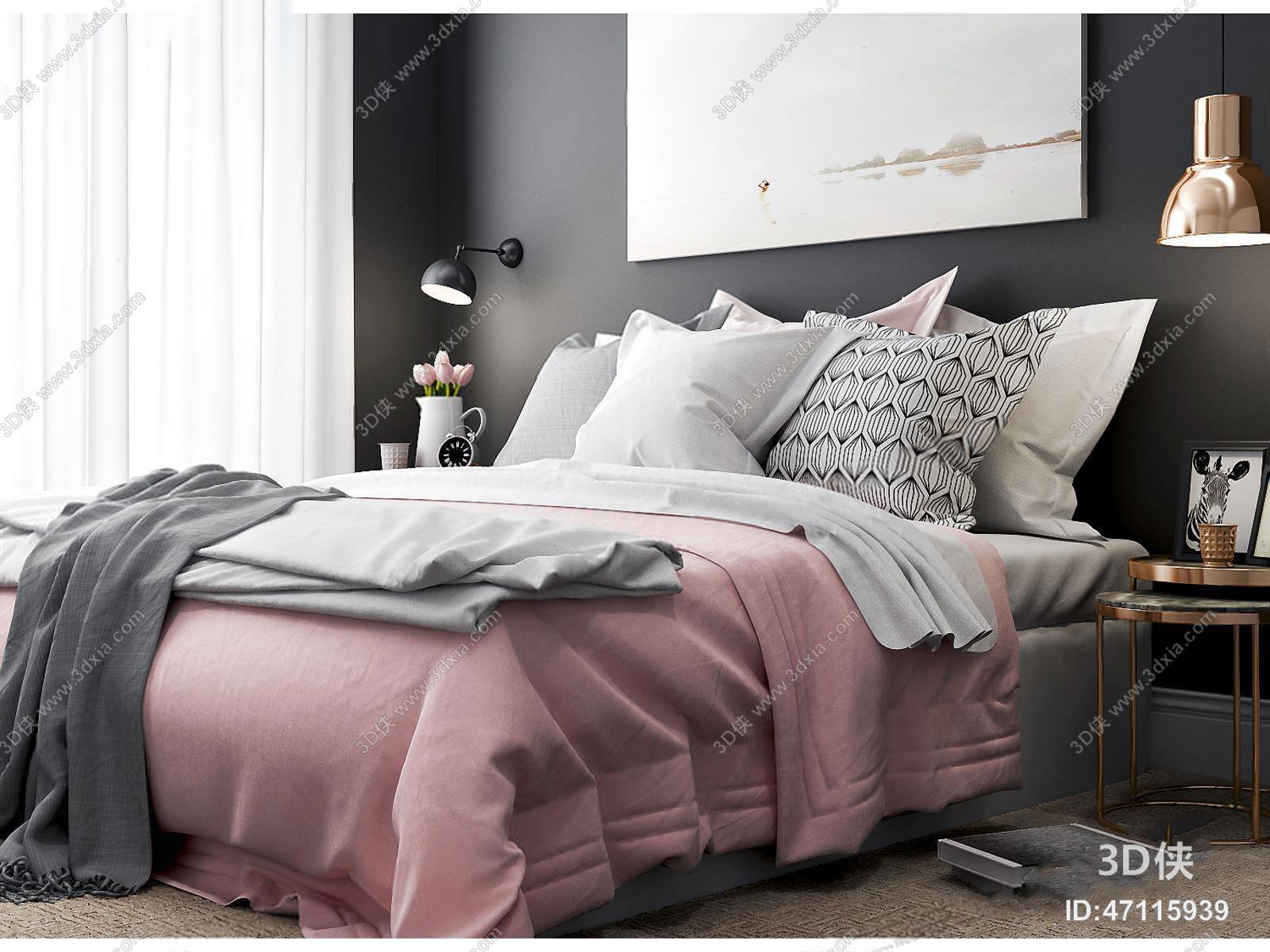 现代美式床具组合