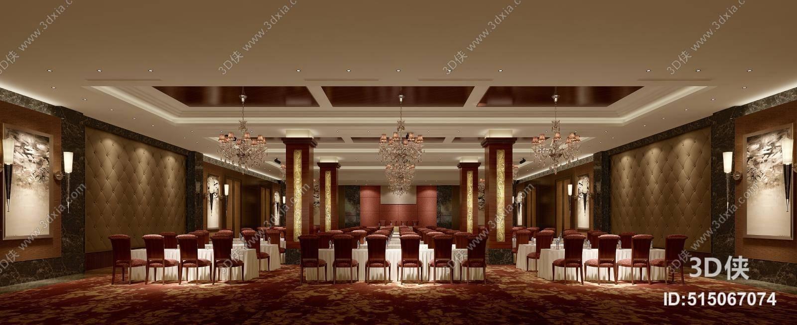 2010,建议使用3dmax 2012 软件打开,该欧式简约酒店会议厅图片素材
