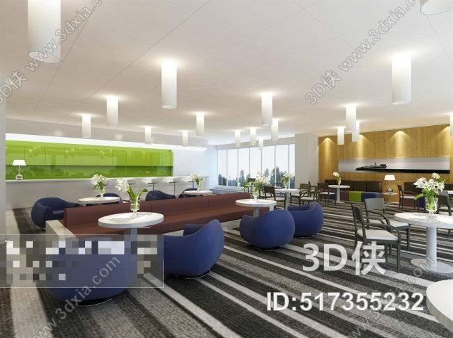 2010,建议使用3dmax 2012 软件打开,该现代酒店休息区图片素材大小是