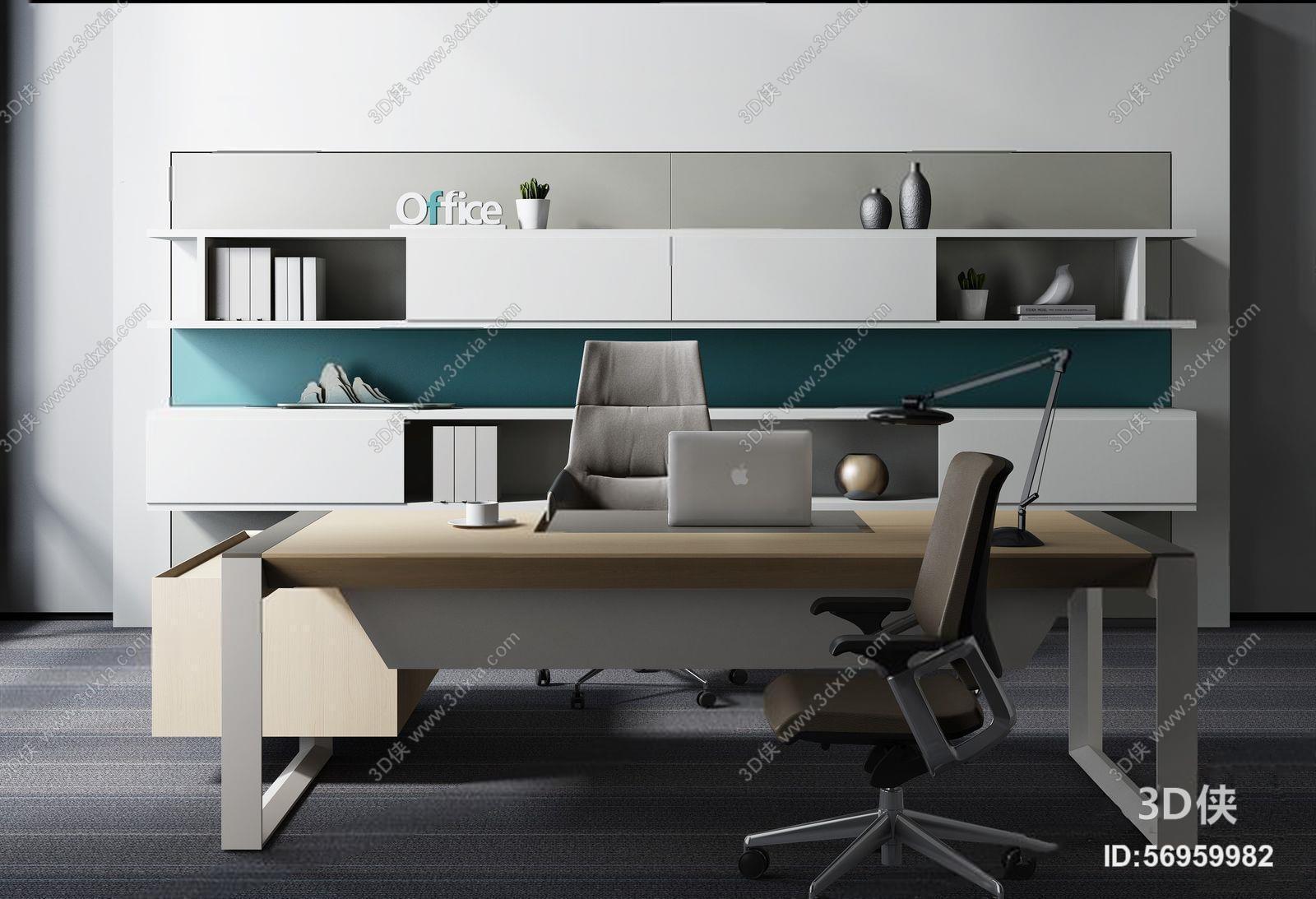吊灯效果图素材免费下载,本作品主题是现代老总办公室 现代办公桌椅