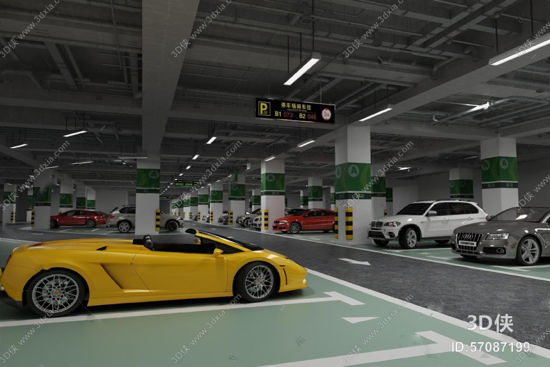 停车场 3d模型 是由室内设计师半城,烟沙上传.图片