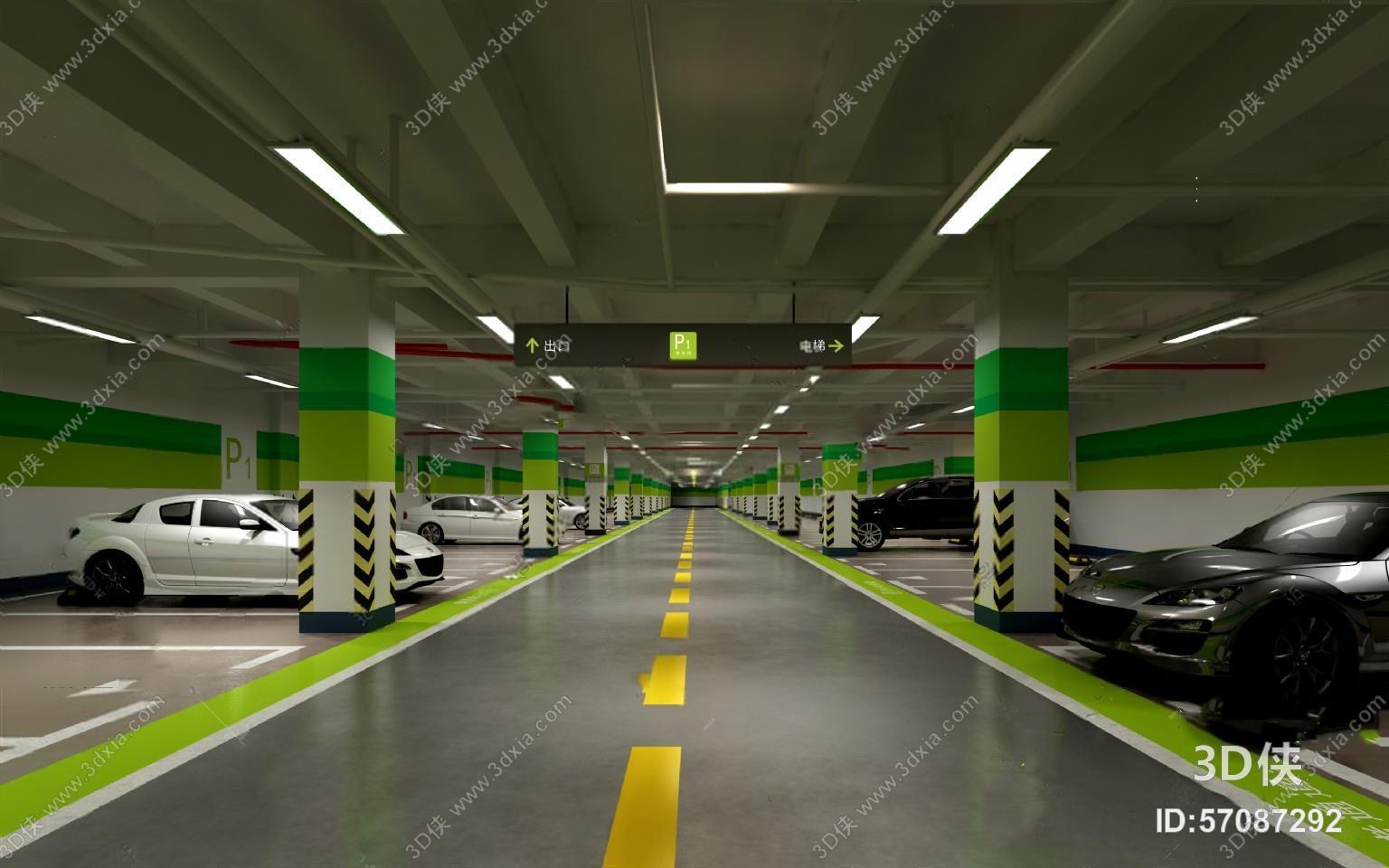 停车场 3d模型 是由室内设计师爱我所爱@上传.图片