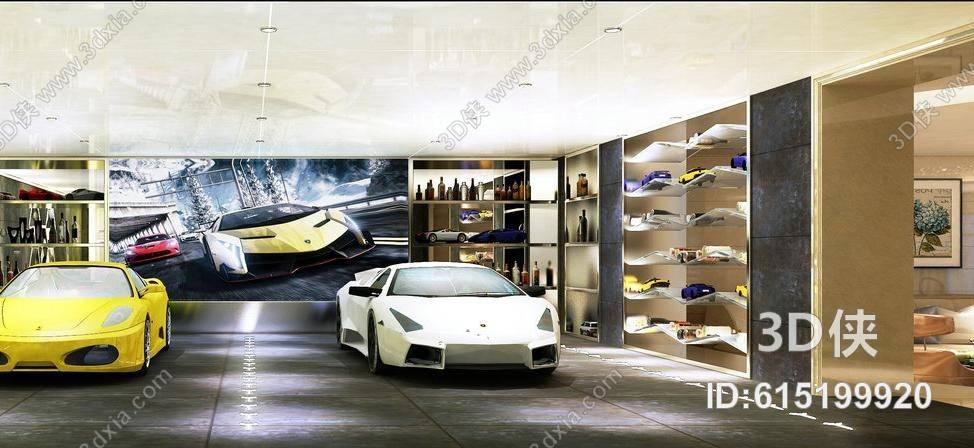 现代汽车展厅3d模型【id:615199920】