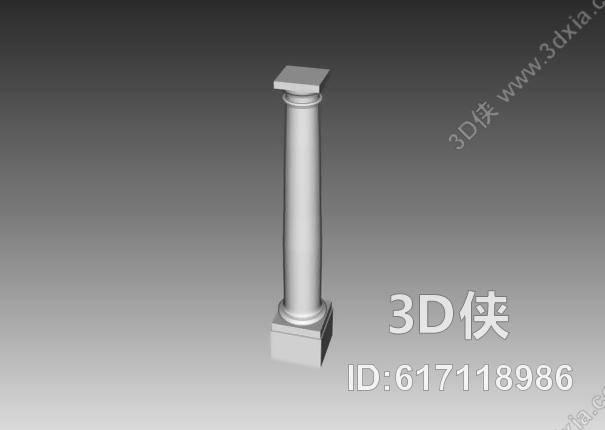 格式是max 2002,建议使用3dmax 2012 软件打开,该柱子图片素材大小是0