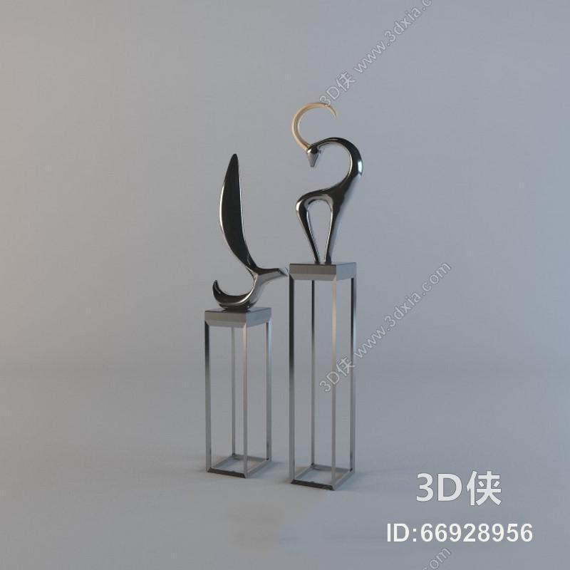 现代装饰黑白画陶罐模型 装饰品 现代风格 玻璃瓶 瓷器 陶瓷工艺品