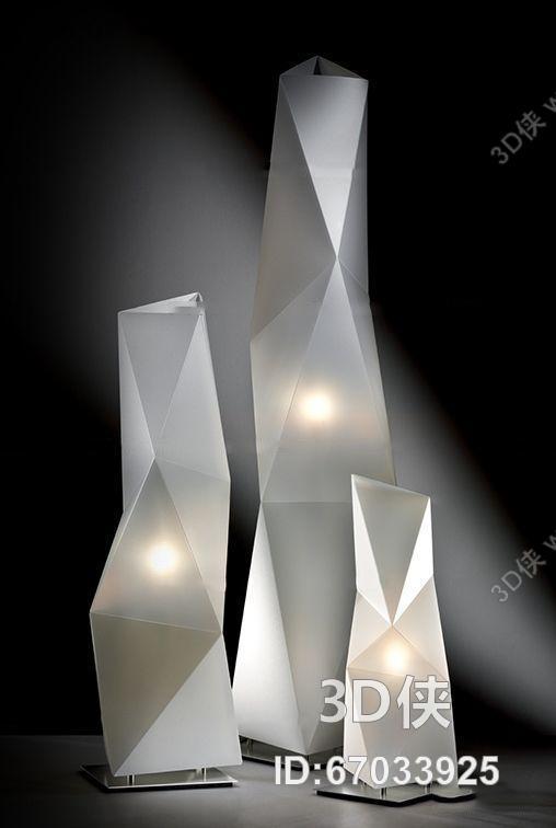 现代创意立体构成装饰落地灯3d模型【id:67033925】