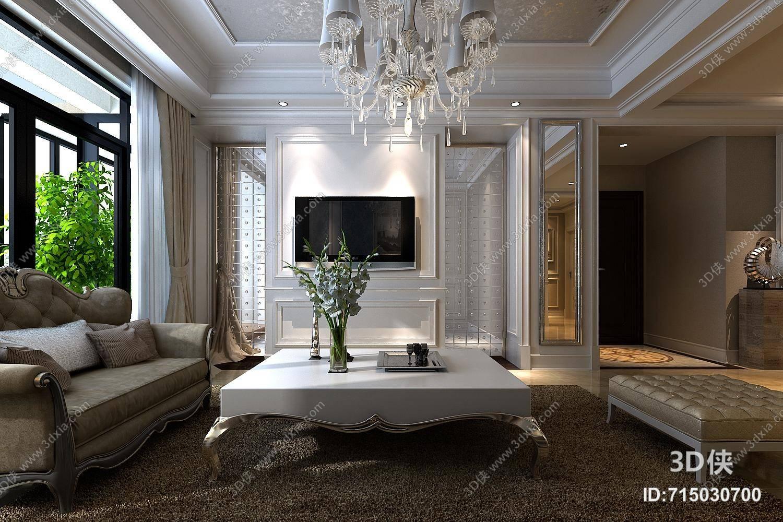 欧式简约家居客厅 欧式简约白色大理石家居茶几 欧式简约家居客厅