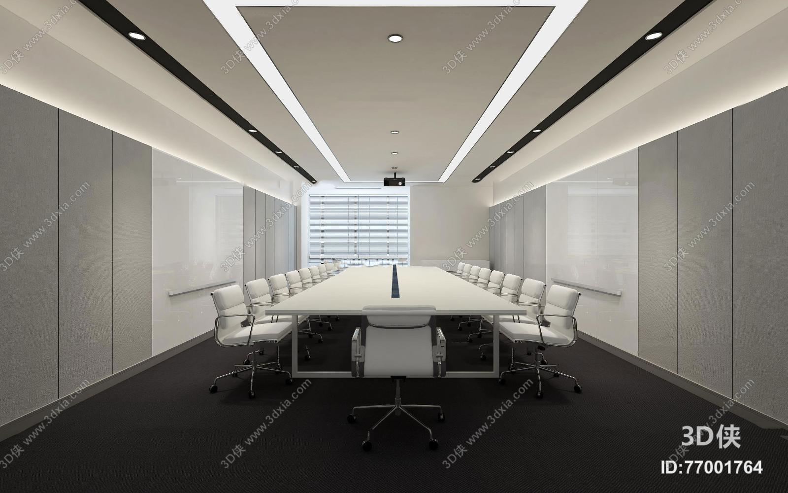 辦公室效果圖素材免費下載,本作品主題是現代會議室3d模型,編號是
