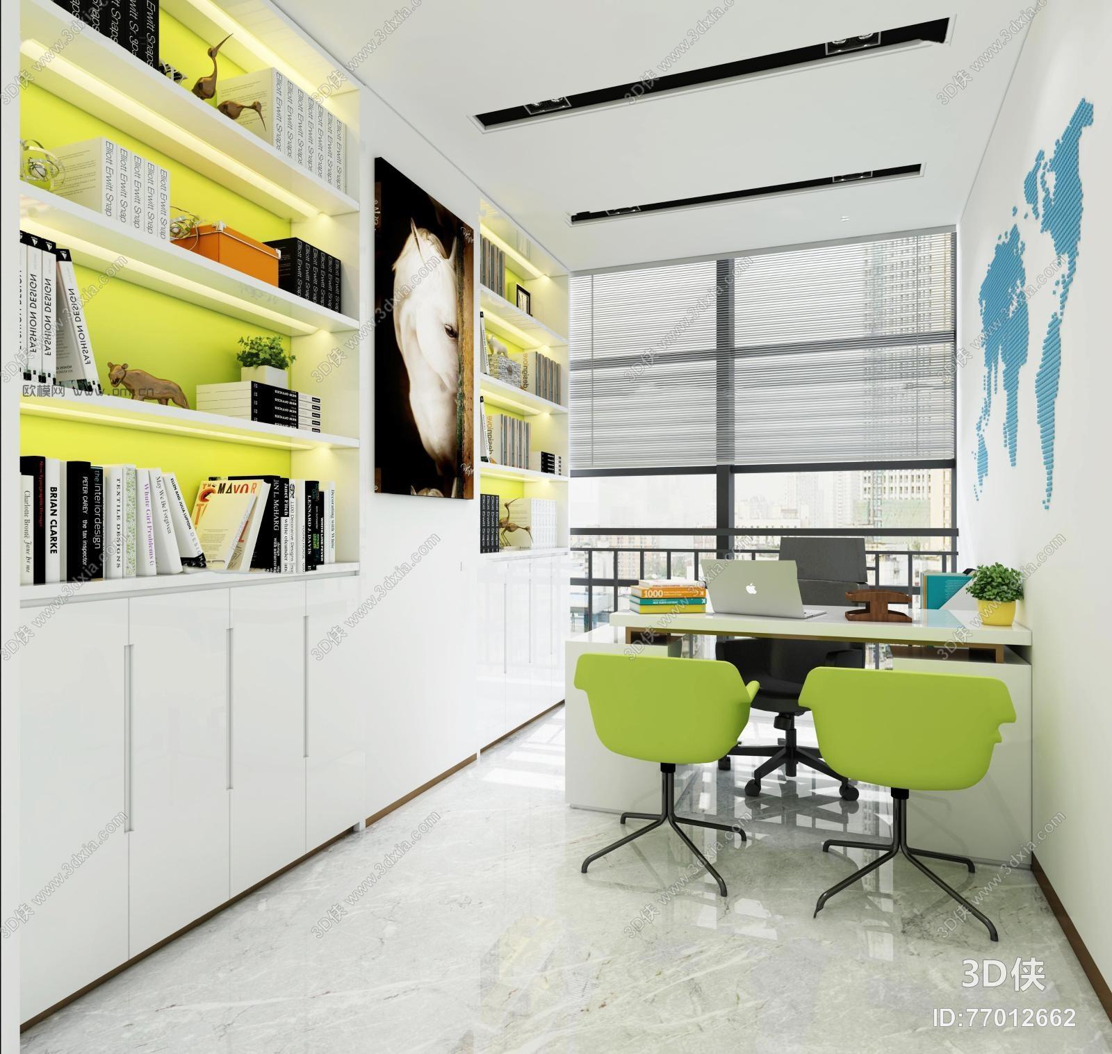 现代经理办公室3D模型