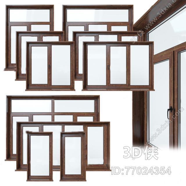 2012版本,建议使用3dmax 2012 软件打开,该现代风格门窗户图片素材
