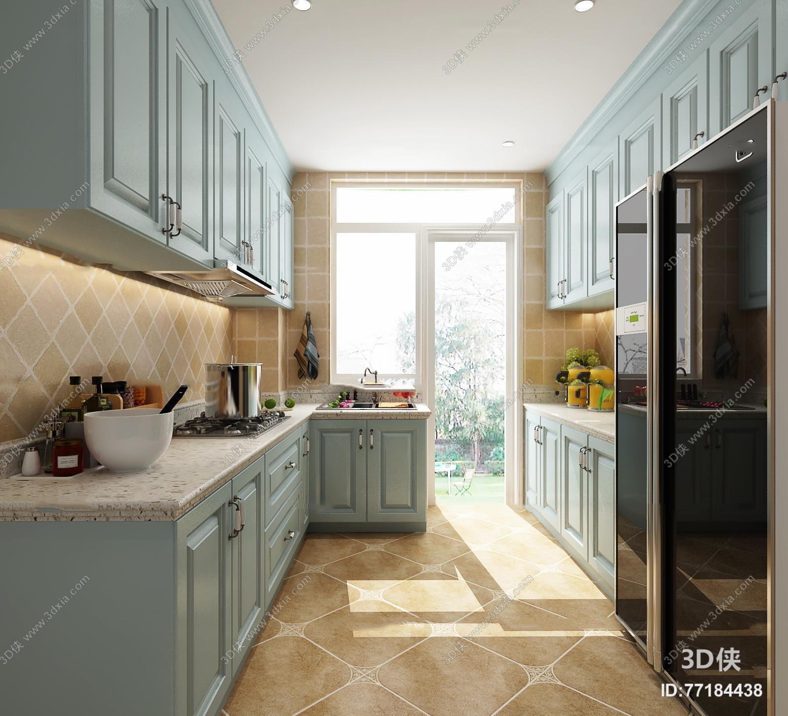 欧式厨房橱柜3D模型