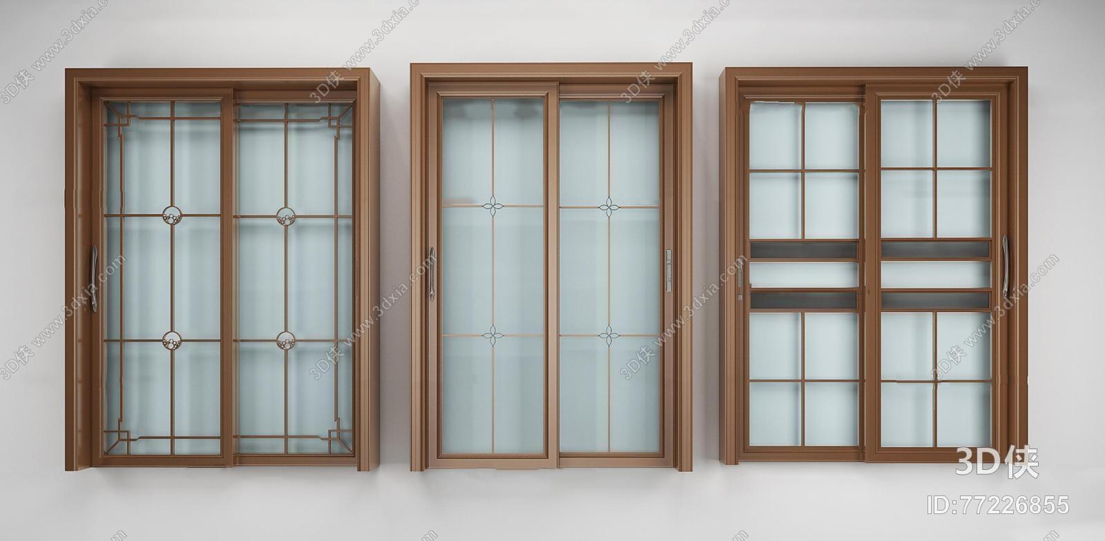 2014,建议使用3dmax 2012 软件打开,该现代风格门窗户图片素材大小是1