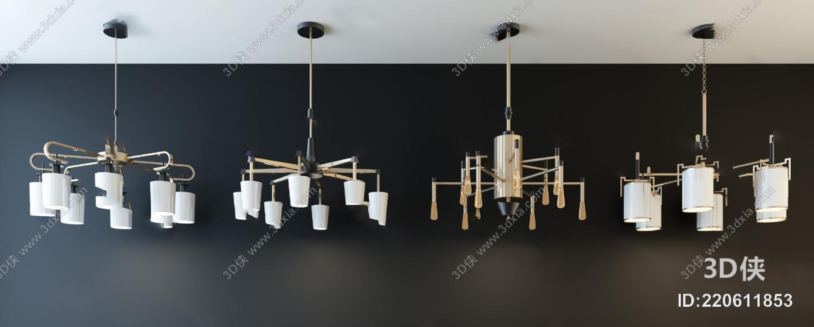 后现代吊灯3D模型