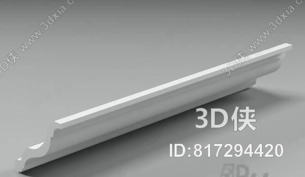 格式是max 2007,建议使用3dmax 2012 软件打开,该石膏线条图片素材图片