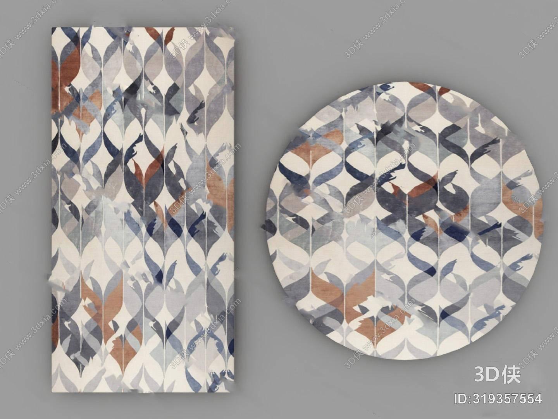 格式是max2010,建议使用3dmax 2012 软件打开,该北欧地毯图片素材大小