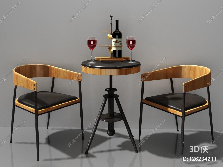 现代休闲沙发组合3D模型