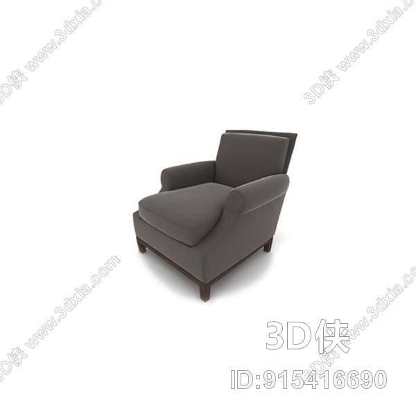 图片素材大小是1.19M ,灯光详情: 未知, 材质贴图:未知 。现代灰色布艺单人沙发是由室内设计师冷酷‰杀神上传。 浏览本作品的您可能还想下载 3d模型库中的
