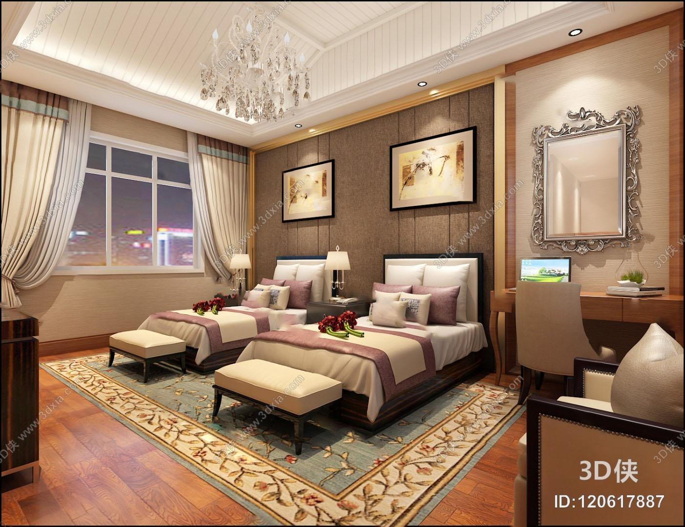 混搭客房3D模型
