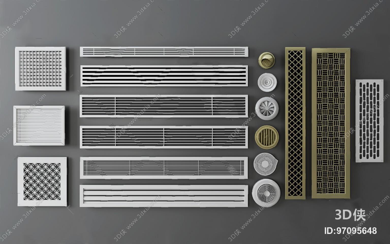 其它模型效果图素材免费下载,本作品主题是空调出风口 3d模型 ,编号是