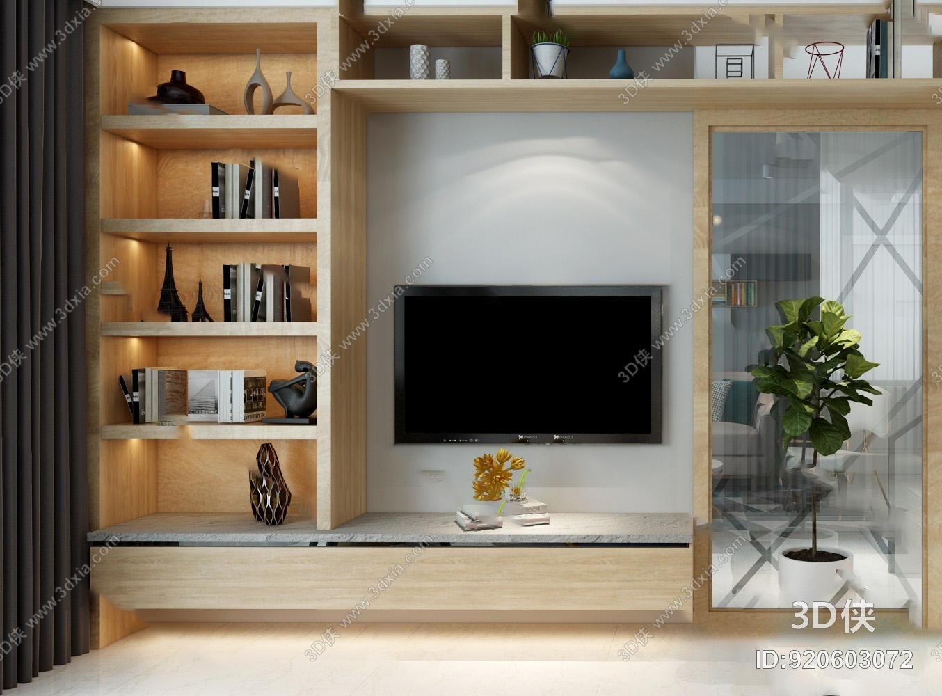 电视柜效果图素材免费下载,本作品主题是电视柜3d模型,编号是