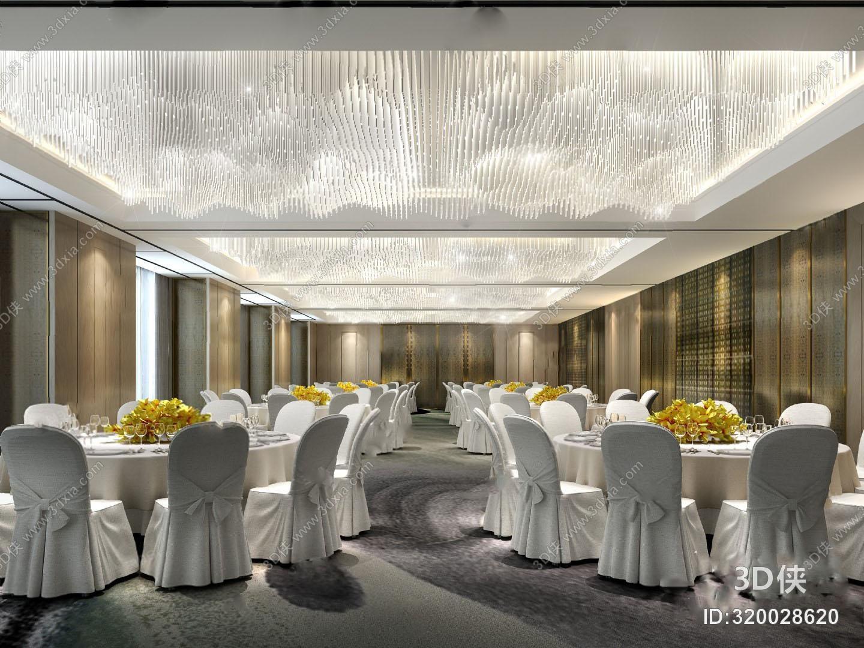 宴会厅3D模型