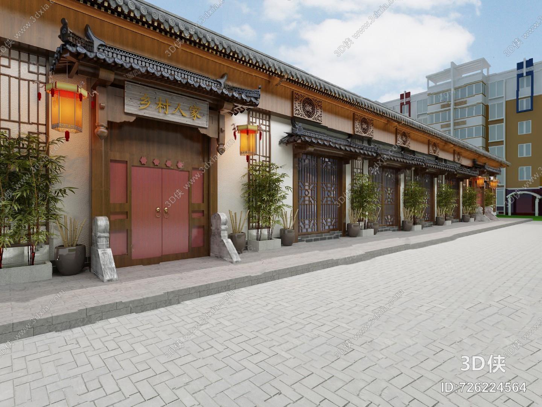 中式门头3D模型